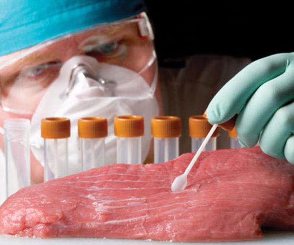 Мясо микробы